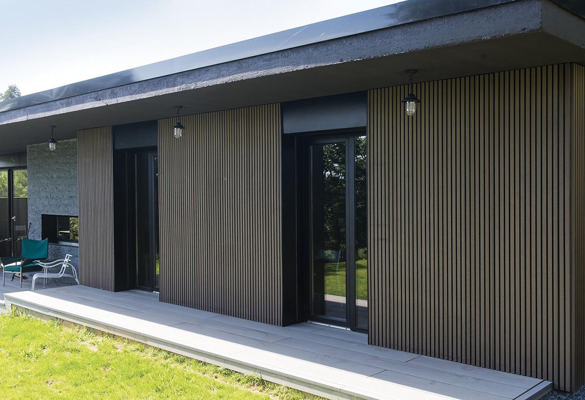 Bardage Neolife sur maison moderne - Habitat & Traditions