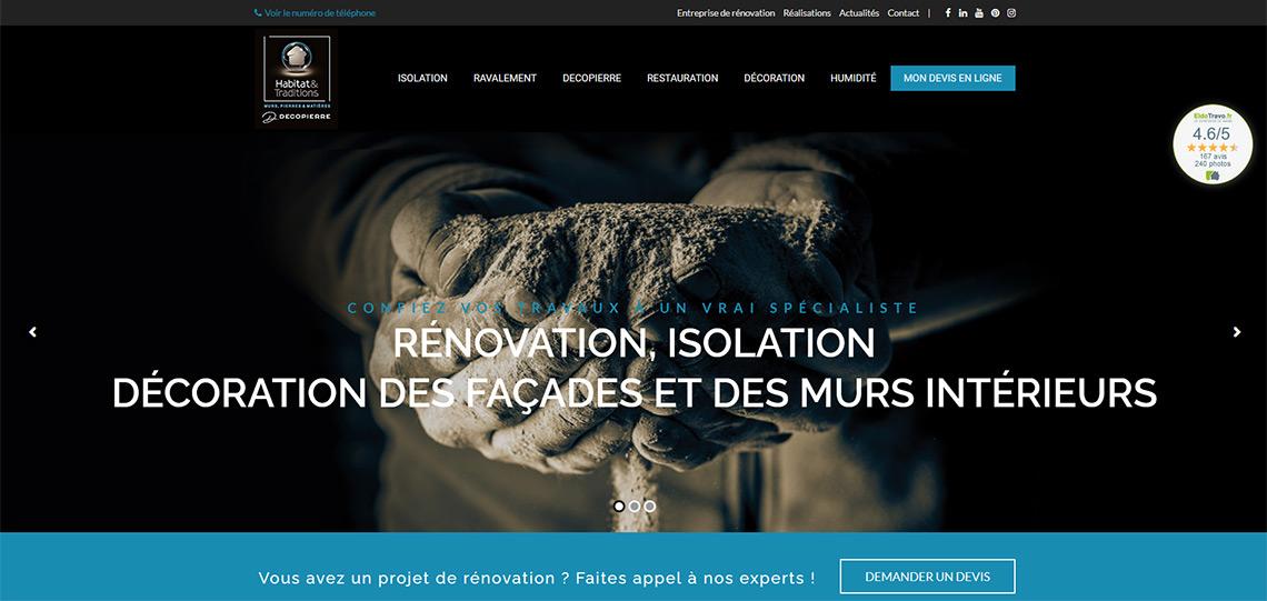 Nouveau site internet Habitat et Traditions