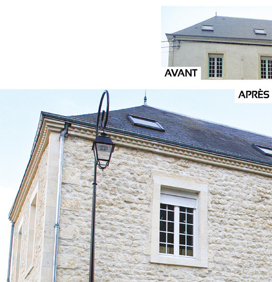 Avant/après ravalement de facade de maison ancienne