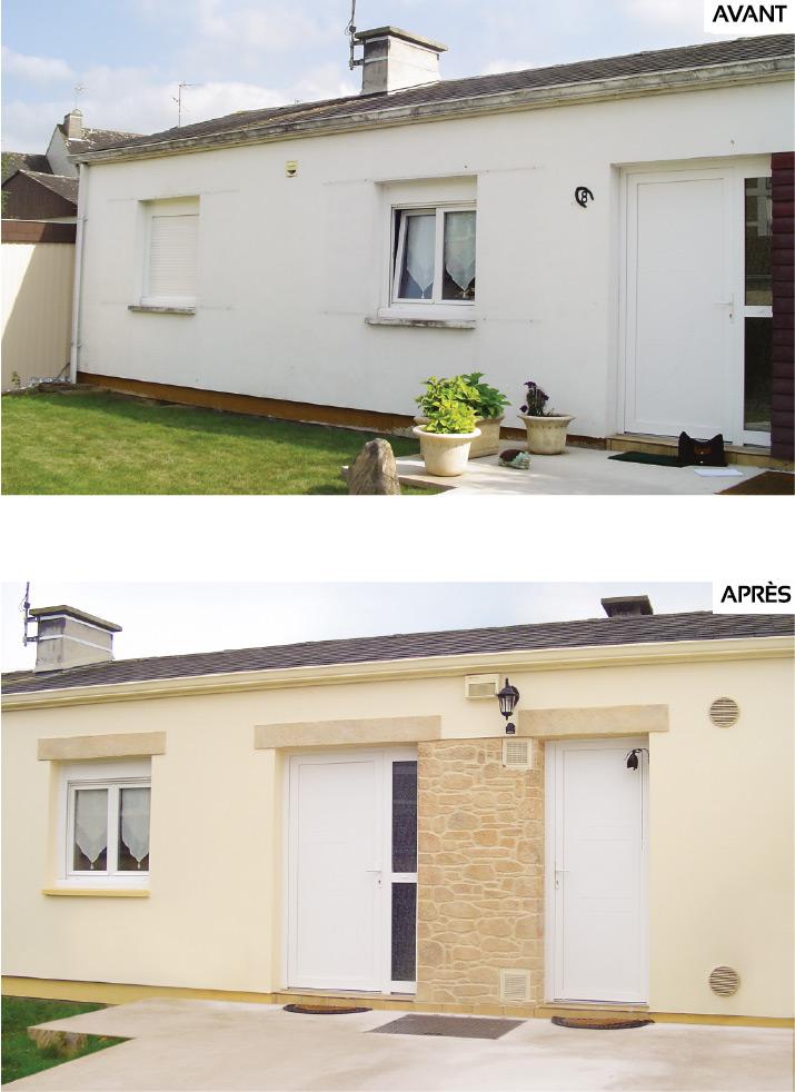 Avant/après un ravalement de facade