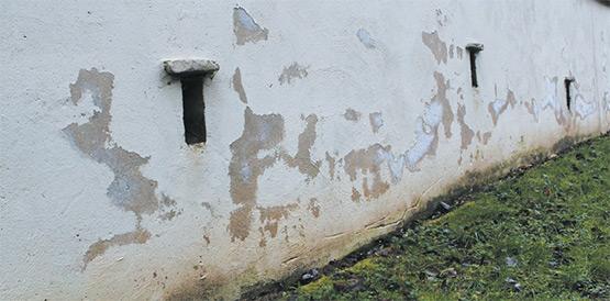 Mauvaise étanchéité d'une façade extérieure