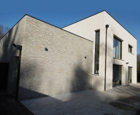 Decopierre extérieur aspect pierres sèches sur maison moderne à Reims