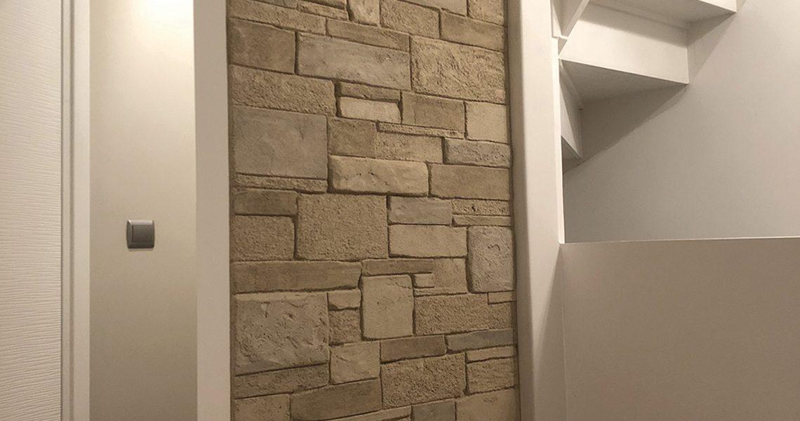 Decopierre intérieur aspect pierres sèches montée d'escalier
