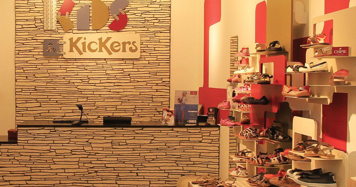 Decopierre intérieur boutique Kickers à Reims