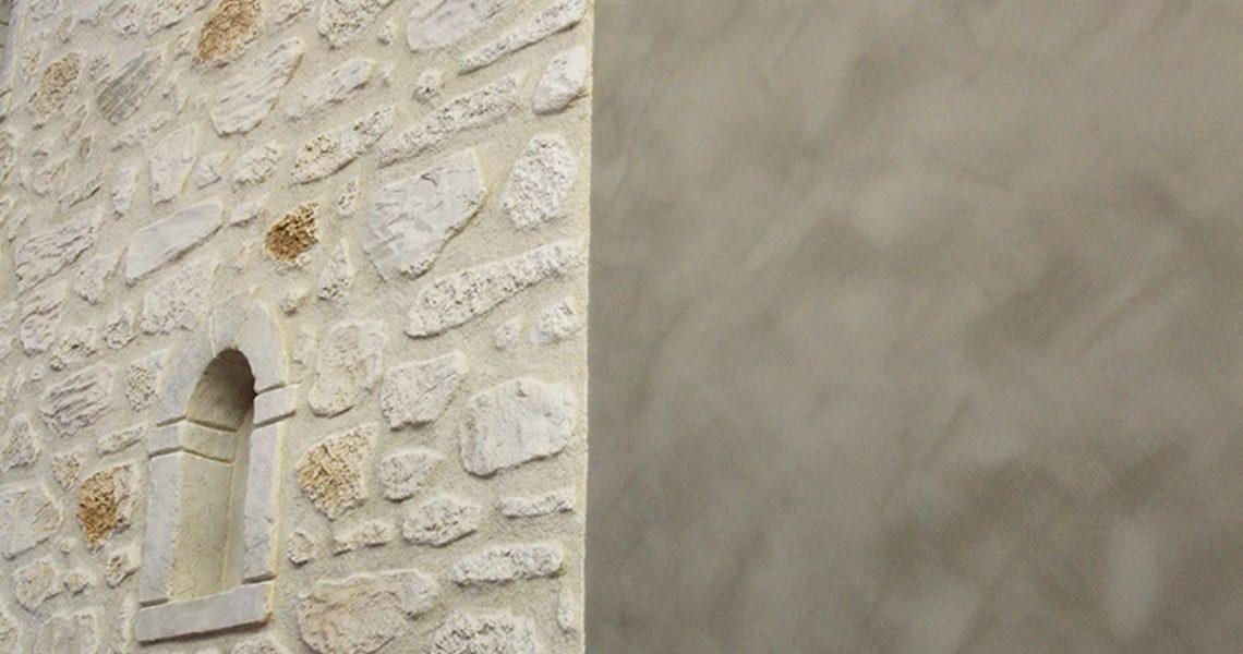 Decopierre intérieur et badigeon de chaux à Cormontreuil