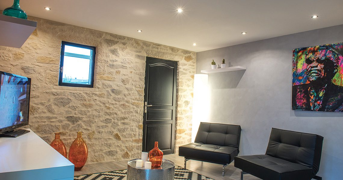 Decopierre intérieur et badigeon de chaux à Reims