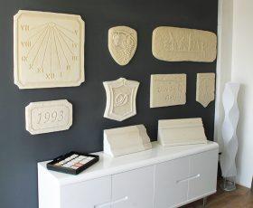 Exemple de décoration realisée avec enduit Decopierre à Cormontreuil