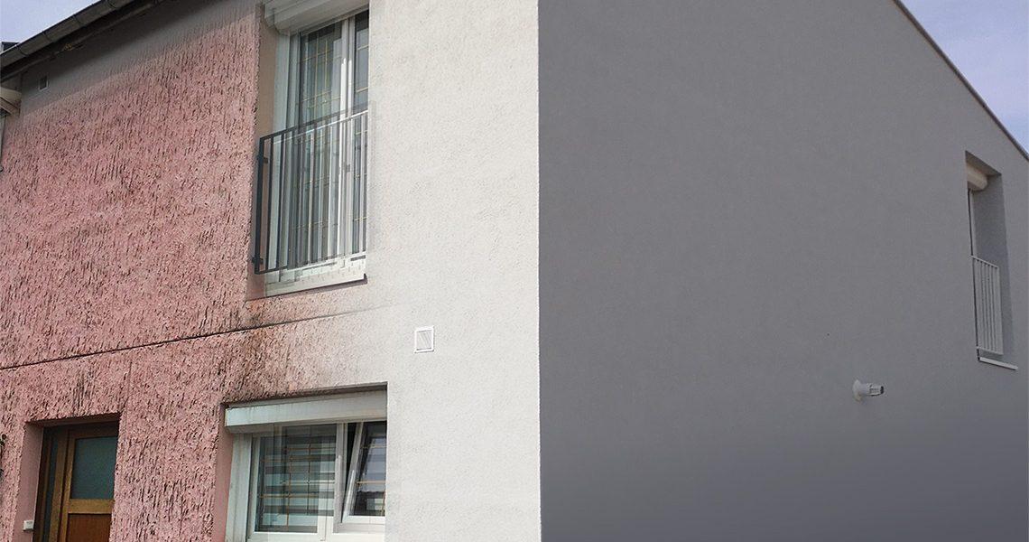 Isolation thermique par l'extérieur sur façade crépi en mauvaise état