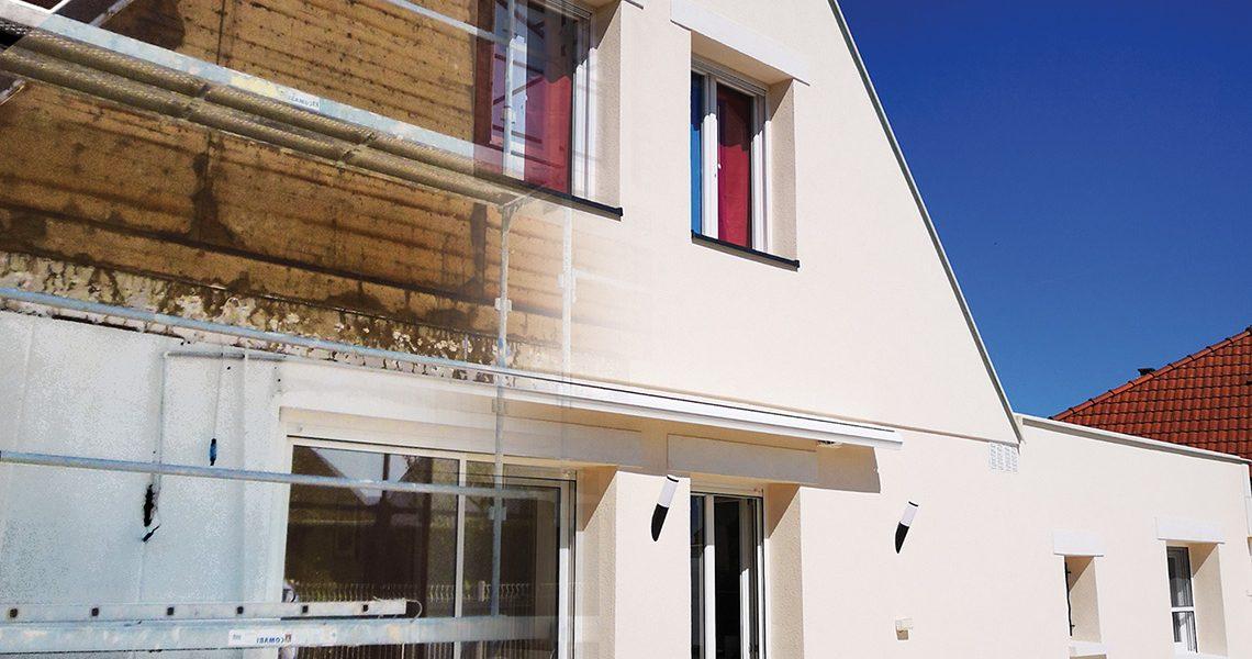 Isolation thermique par l'extérieur sur façade en mauvais état