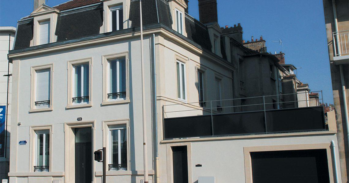 Ravalement de facade peinture à Reims