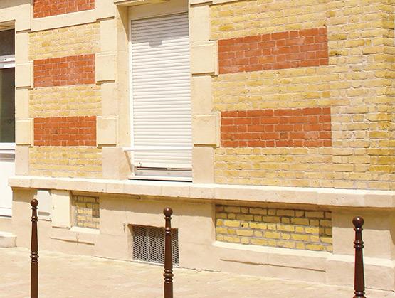 Soubassement de façade