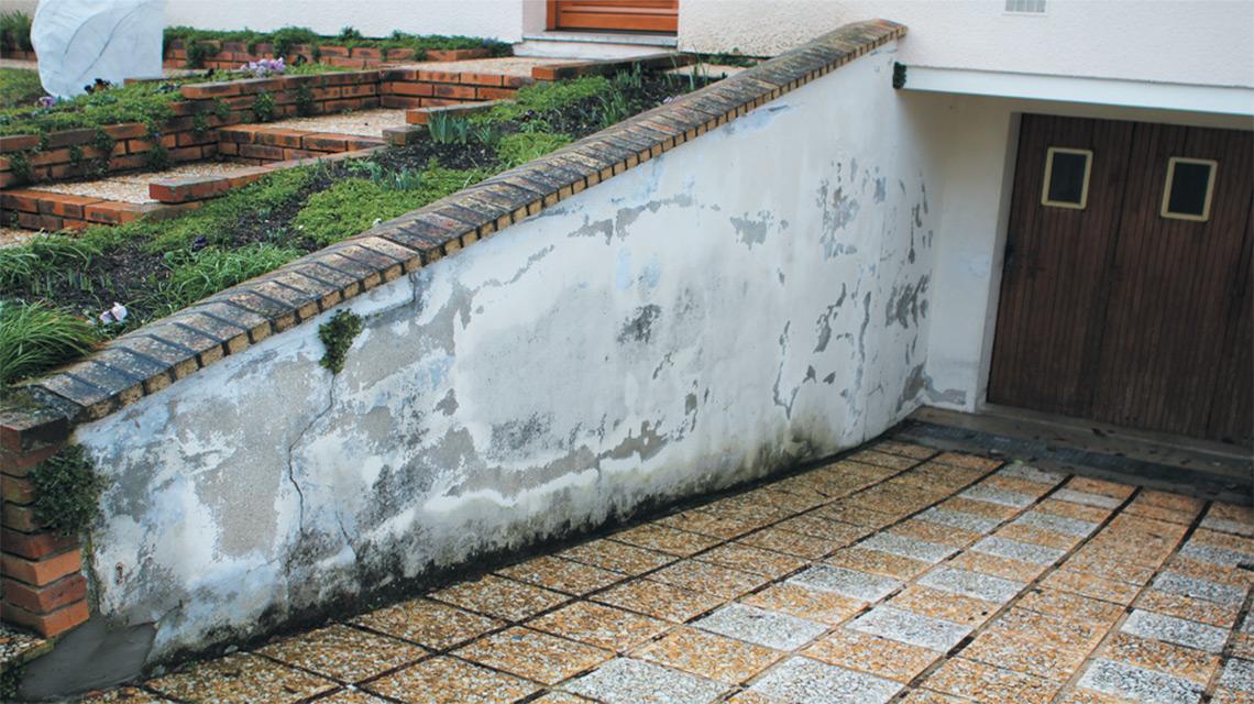 Traitement de l'humidite sur mur exterieur