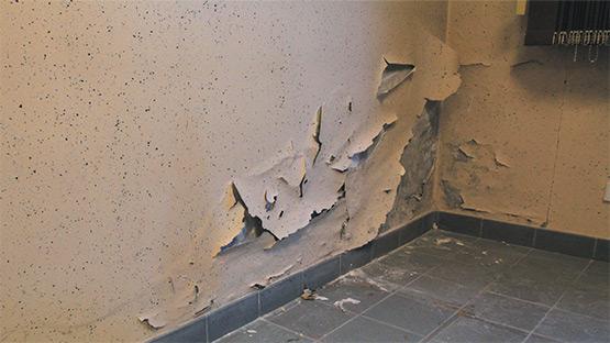 Traitement de l'humidité de mur intérieur