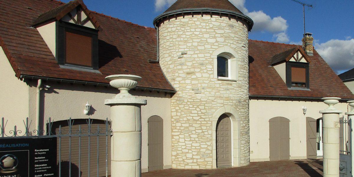 Decopierre extérieur aspect pierre sur tour