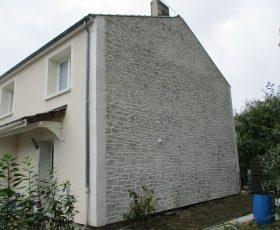 Decopierre extérieur avec chaînage en pierre de taille