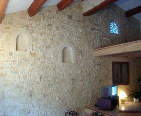 Decopierre intérieur aspect pierre d'angle et encadrements d'alcôves