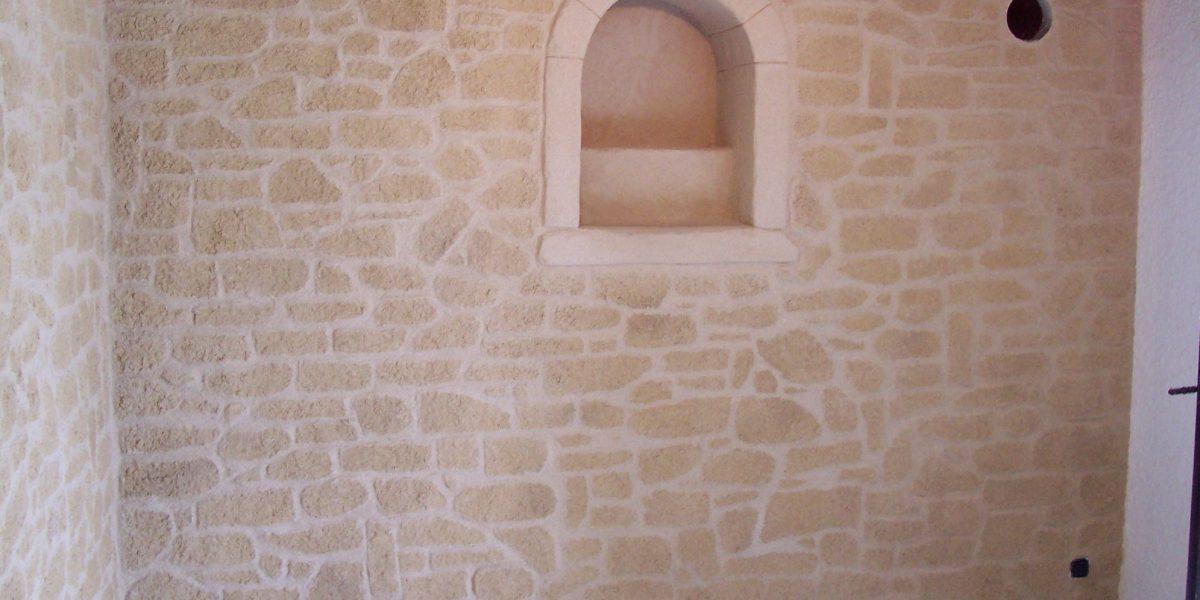 Decopierre intérieur et encadrement d'une alcôve