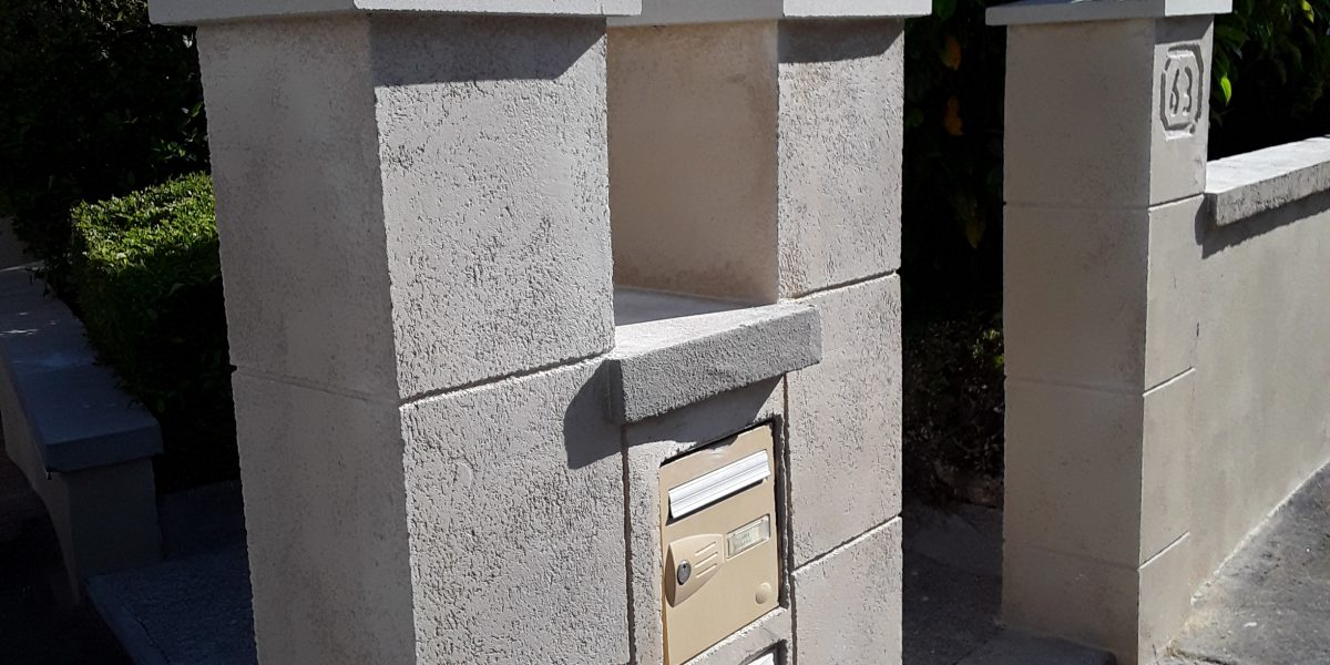 Decopierre sur murets aspect pierre de taille