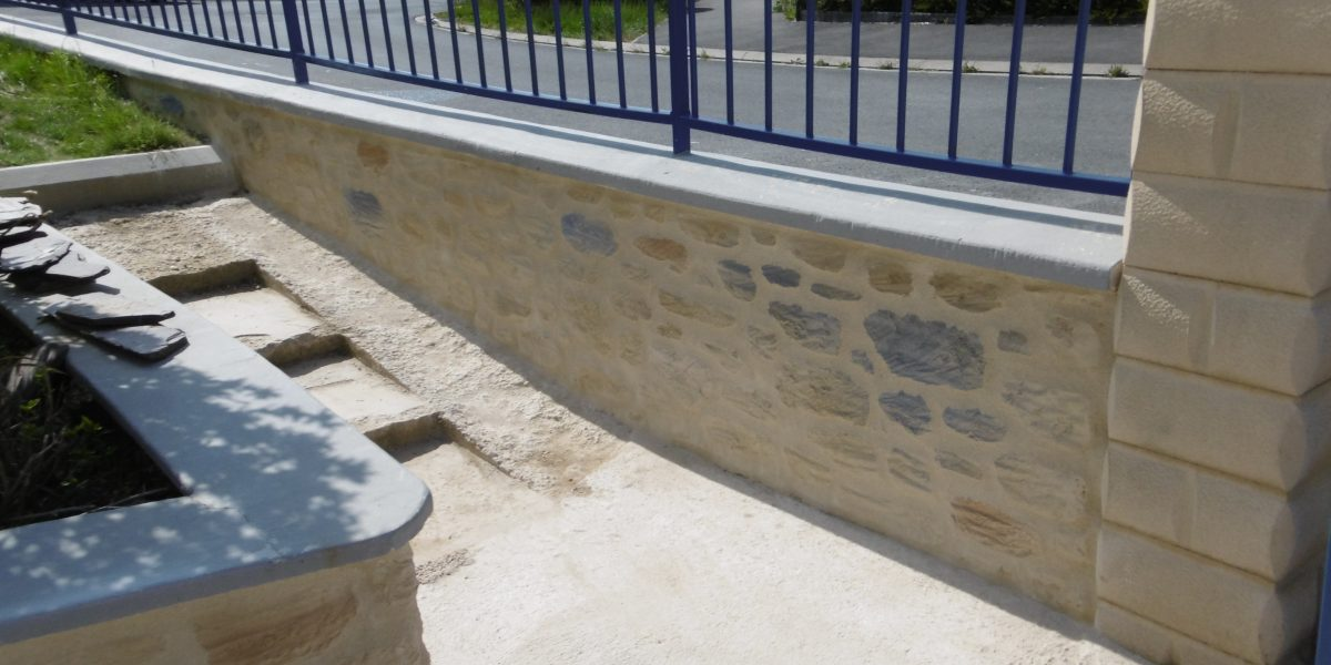 Muret en Decopierre à Reims