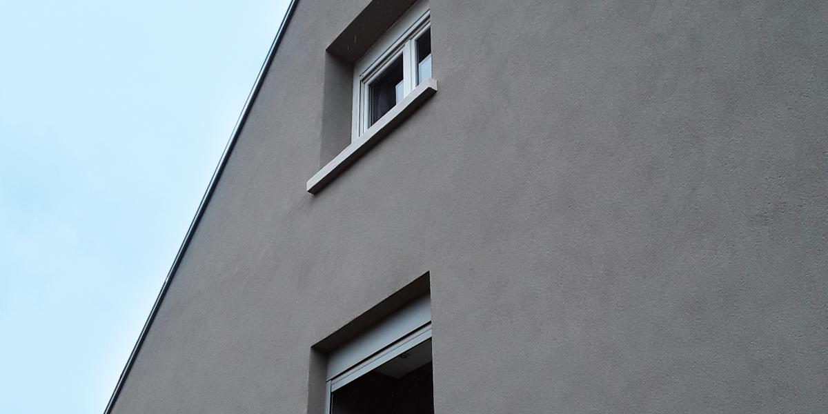 Enduit à la chaux pour façade extérieure de maison