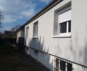 Isolation par l'extérieur et façade avec enduit à la chaux